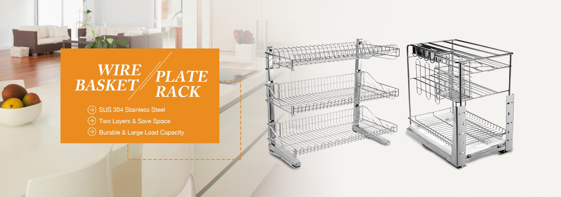 Dish racks and Wire basket