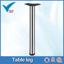 Chrome round metal kitchen table legs VT-02.007