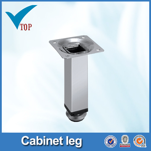 Square pipe lucite furniture legs