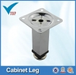 Metal adjustable metal furniture leg