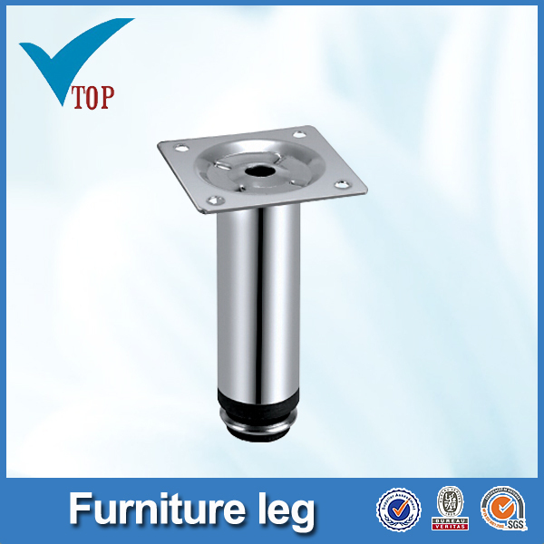 Chrome metal legs for beds