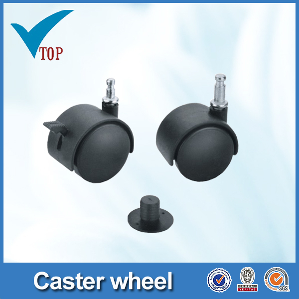 Veitop plastic caster with non-break and plastic socket