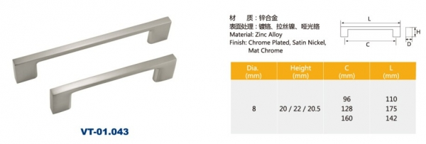 Cabinet stainless steel furniture zinc alloy handles
