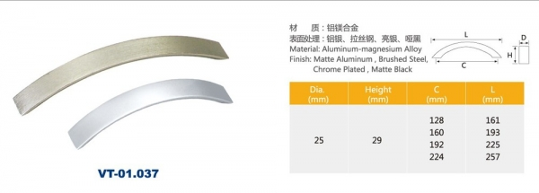 Kitchen drawer aluminium pull handles