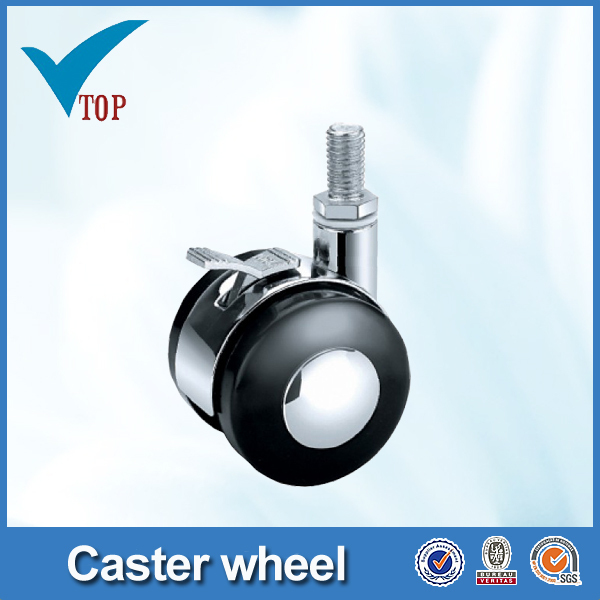 Screw chair casters with brake small chair casters