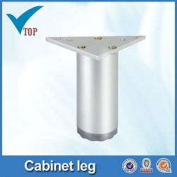 Adjustable aluminum metal caps for furniture legs VT-03.054
