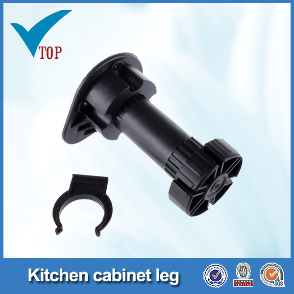 Plastic leg for cabinet adjustable plastic leg