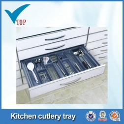 Plastic tray for kitchen cutlery