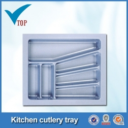 Kitchen drip rattan cutlery utility tray