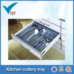Kitchen cabinet plastic storage tray
