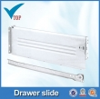 white roller drawer slide