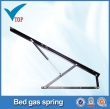 Gas spring lift up mechanism for bed frame