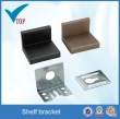 Black color finish plastic corner brackets