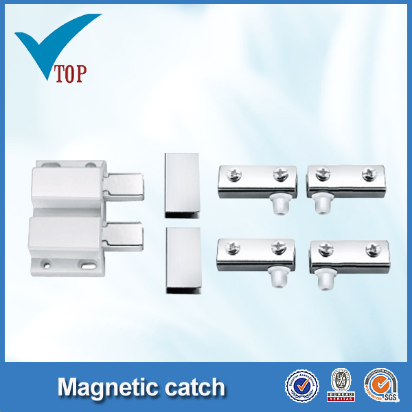 Plastic glass door magnetic catch