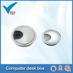 Zinc alloy chrome Computer Cable Hole Cap VT-12.033