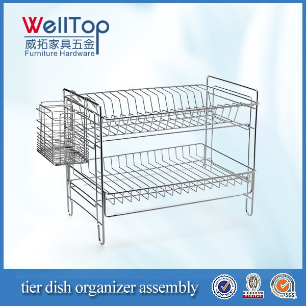 tier dish organier assembly
