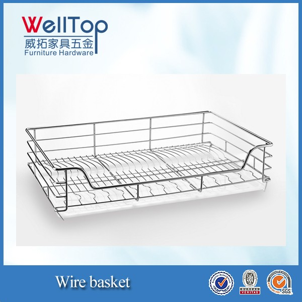 Stainless Steel Wire basket with pull-out rail