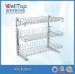 layer base adjustable side mount pullout wire basket