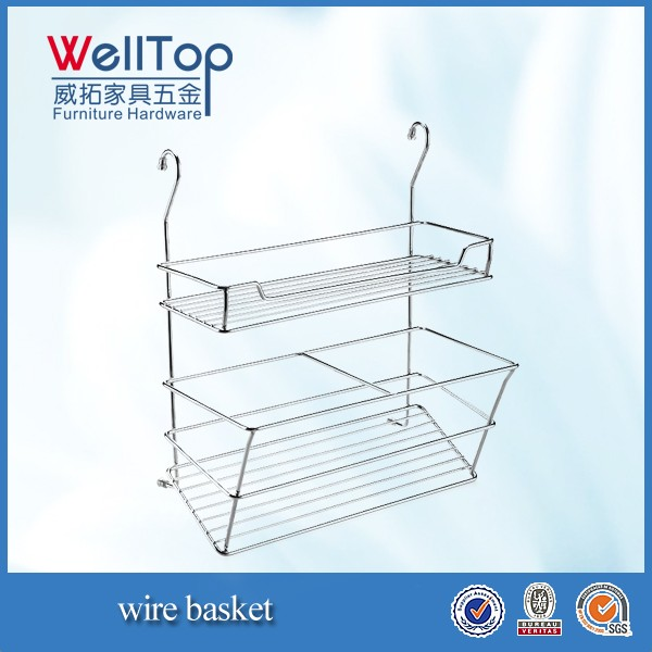 wall hanging wire basket