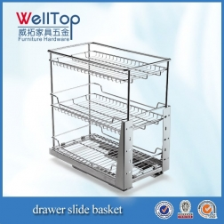 Stainless steel wire kitchen pull-out basket