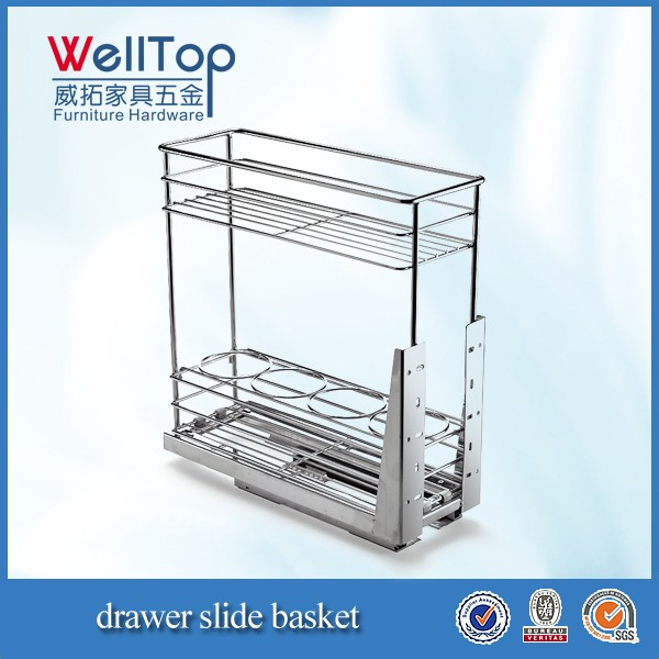 steel kitchen wire pull-out basket