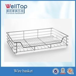 hot sale Stainless Steel Wire basket with pull-out rail