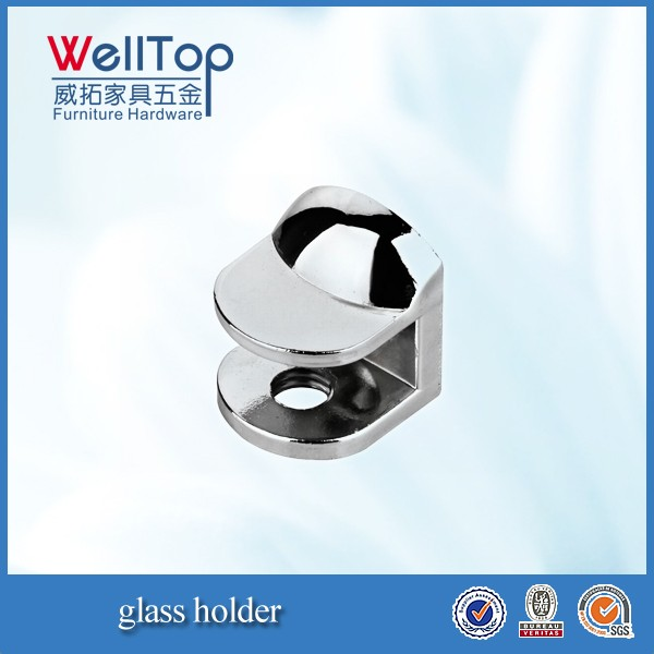 chrome glass shelf clamp glass holder