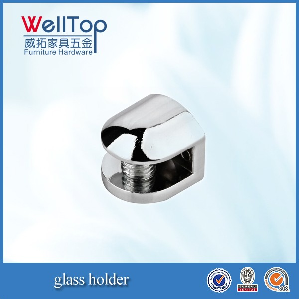 Small glass support for furniture