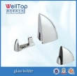 Zinc plated furniture metal glass support