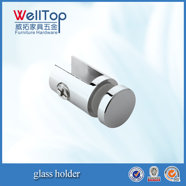 Polishing chrome cabinet glass clip