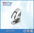 glass shelf bracket zinc alloyglass holder