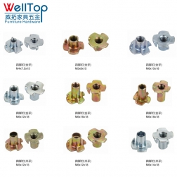 M4/M6/M8/M10 Thread Four Prongs special machine weld T Nuts four tetrapod nail VT-14.081