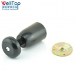 ABS black bed sofa cabinet leg with M10 screw VT-03.088