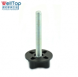 linking bar bolt black plastic knob screw thread headboard bolts VT-14.083