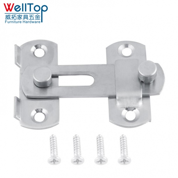 Stainless Steel Hasp Latch Lock Sliding Door lock for Window Cabinet Fitting Room Accessorries Home