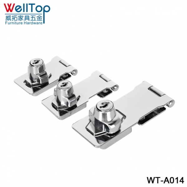 NONE DRILLING HOLE furniture drawer locks alloy door lock catch bolt clasp/latch safety lock baby sa