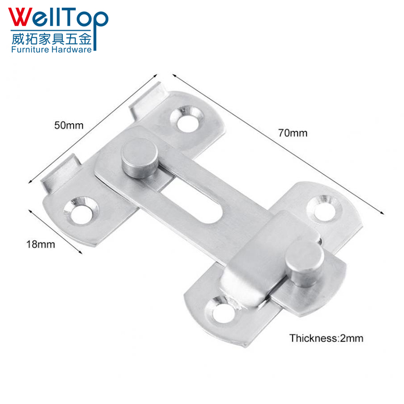 Stainless Steel Hasp Latch Lock Sliding Door lock for Window Cabinet Fitting Room Accessorries Home Hardware WT-A021