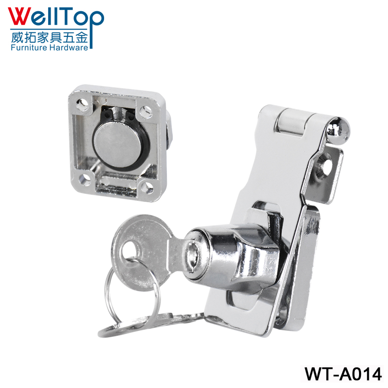 NONE DRILLING HOLE furniture drawer locks alloy door lock catch bolt clasp/latch safety lock baby safety drawer cabinet lock