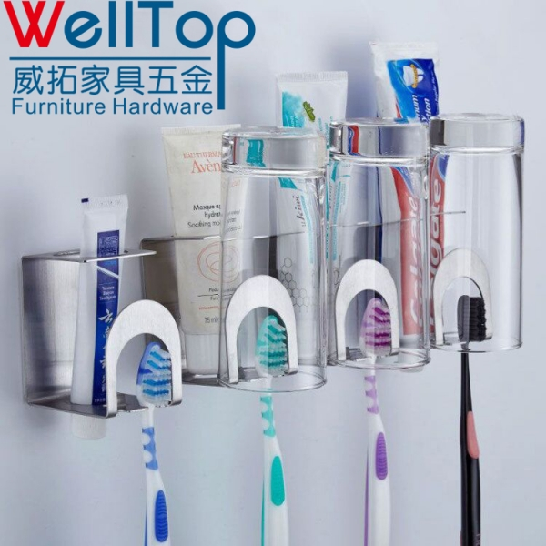 Bathroom accessory Stainless Steel Toothpaste Toothbrush Holders