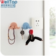 Amazon New Arrival Cute Cartoon Animal Plastic Home Office Wall Adhesive Power Plug Socket Cord Hold