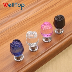 2019 Welltop Modern crystal diamond knob handle for cabinet drawer wordrobeVT-01.145