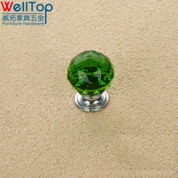 Lovely Crystal Glass Door Knobs Kitchen Cabinet Drawer Handle VT-01.100