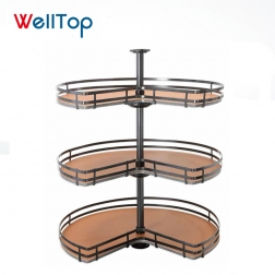 Welltop 3 tiers multi-function rotary basket clothes hanger pant rack VT-10.030