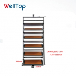 360 degree customized shop mall and home space saving rotating wooden cabinet shoe rack manufacture VT-10.027