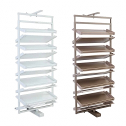 Welltop good quality home space saving rotating wooden cabinet shoe rack manufacture VT-10.047