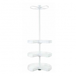 welltop 4-layer corner revolving storage basket for wardrobe VT-10.050