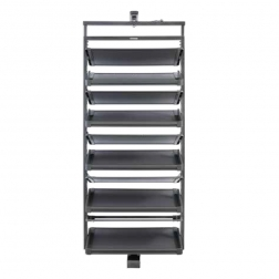 2019 Welltop Modern Space Saving Rotating Metal Shoe Rack manufacture VT-10.048