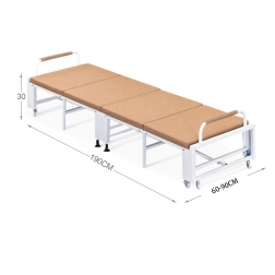 WT-B09 China Factory Metal Camp Portable Single Fold Down Comfortable Folding Bed